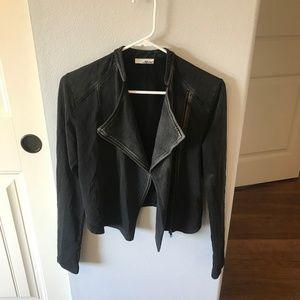 Abound Soft Black Motorcycle Moto Jacket